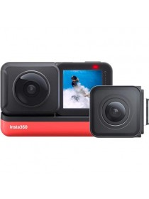 Insta360 ONE R Twin Edition 5.7K Panoramic Sports Action Camera 4K 60fps Wide Angle Flow State Anti-Shake IPX8 Waterproof (Twin Edition (360 & 4K))